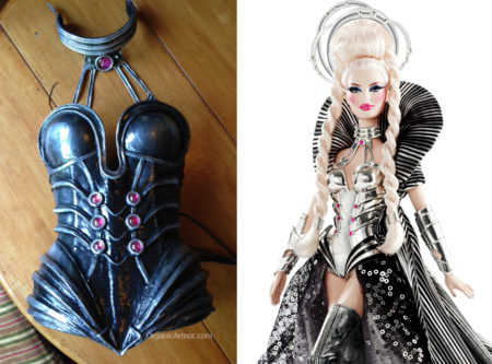 Goddess of the Galaxy Barbie cosplay corset and collar