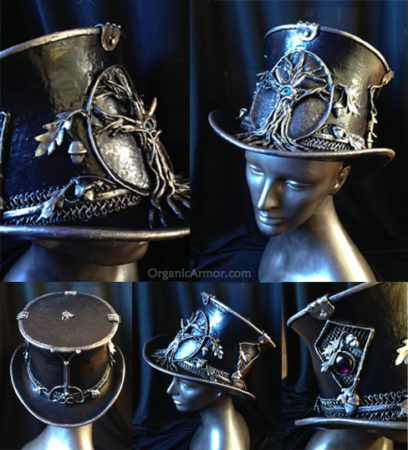custom druid top hat tree steampunk