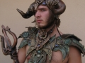 Zack in chestplate and horns