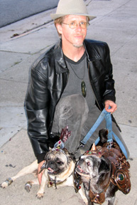 paul and pugs at opening