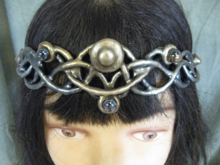 gold celtic circlet f-012