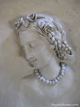 Antique cameo reproduced in clay