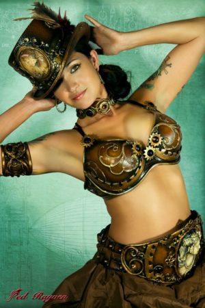 top hat bra belt steampunk