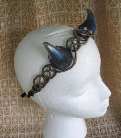 faun horns circlet