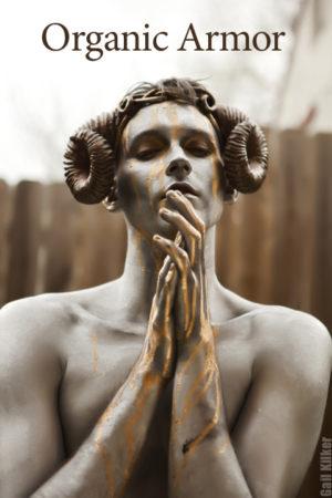 rams horns burning man angel