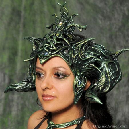 morrigan, headdress, goddess, horned